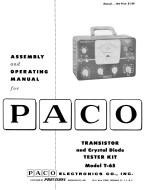 Paco T65 T-65 Transistor Tester Kit Manual