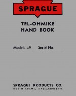SPRAGUE Model 16 TEL-OHMIKE Early Capacitor Tester Manual