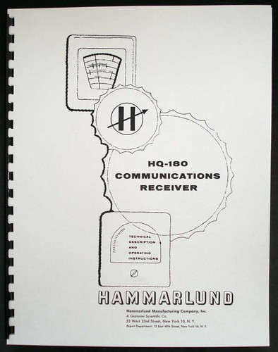 HAMMARLUND HQ-160 HQ160 Communications Receiver Manual