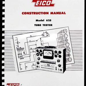 EICO 635 Tube Tester Manual with 1976 Tube Test Data