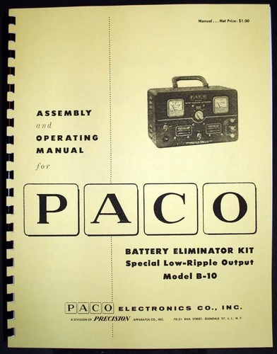 Paco G-15 G15 Grid-Dip Meter Kit Manual