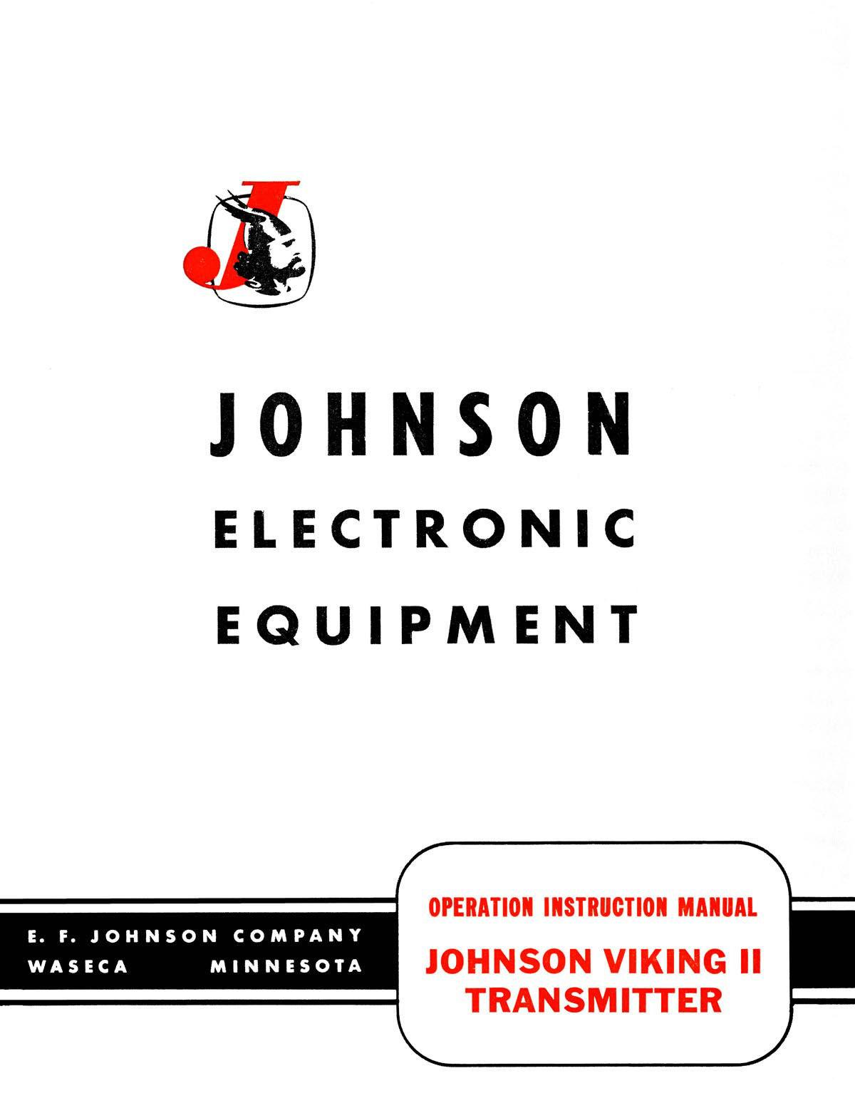 Johnson Viking Ii Transmitter Manual With 11 U00d717 U2033 Schematic